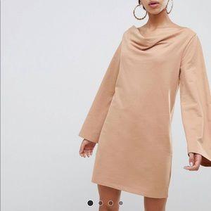 Asos cowl neck mini dress